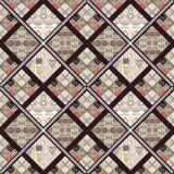 Fond sans couture de modèle de patchwork rétro Photos libres de droits