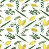 Fond sans couture de modèle de Sukkot illustration stock