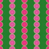 Fond sans couture de modèle de tranche de pastèque Fruits tropicaux Photos libres de droits