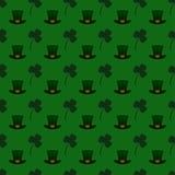 Fond sans couture de modèle de vecteur pour le jour de St Patrick Image libre de droits