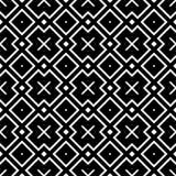 Fond sans couture de modèle en noir et blanc Vintage et rétro conception ornementale abstraite Appartement simple illustration libre de droits
