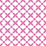 Fond sans couture de modèle de fleur croisée géométrique de vecteur, symétrique illustration libre de droits