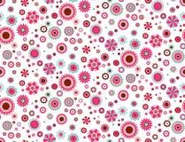 Fond sans couture de modèle de fleurs abstraites de vecteur illustration stock
