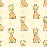 Fond sans couture de modèle de girafe mignonne illustration libre de droits