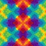 Fond sans couture de modèle de kaléidoscope de mosaïque - plein multi d'arc-en-ciel de spectre coloré illustration libre de droits