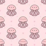 Fond sans couture de modèle de méduses photos libres de droits