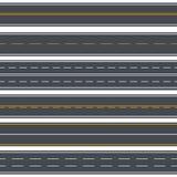 Fond sans couture de modèle de routes droites Vecteur illustration stock