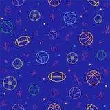 Fond sans couture de modèle de thème de sport ; le football ; base-ball ; vol. illustration de vecteur