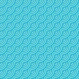 Fond sans couture de modèle de vague bleu-clair abstraite de cercle illustration stock