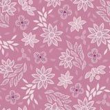 Fond sans couture de modèle de vecteur de broderie florale rose de dentelle image libre de droits