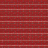 Fond sans couture de mur de briques grunge rouge Mod?le de texture Vecteur plat illustration stock