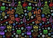 Fond sans couture de Noël illustration stock