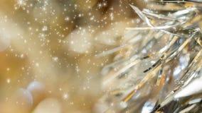 Fond sans couture de Noël de boucle de particules banque de vidéos
