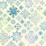 Fond sans couture de Noël d'hiver de flocon de neige Photos libres de droits