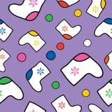 Fond sans couture de Noël d'hiver de vecteur Image libre de droits