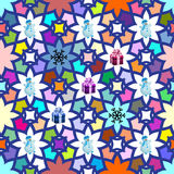 Fond sans couture de Noël multicolore Photo libre de droits