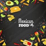Fond sans couture de nourriture mexicaine illustration libre de droits