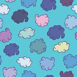 Fond sans couture de nuages Photo libre de droits