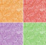 Fond sans couture de Pâques des oeufs colorés Images stock