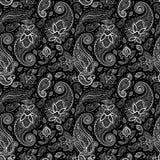Fond sans couture de Paisley. Image libre de droits