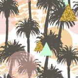 Fond sans couture de palmiers tropicaux Image stock