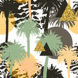 Fond sans couture de palmiers tropicaux Image libre de droits