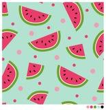 Fond sans couture de pastèques Image stock