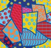 Fond sans couture de patchwork Photos libres de droits