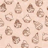 Fond sans couture de petit gâteau illustration de vecteur