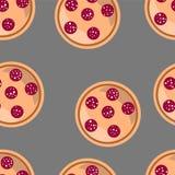 Fond sans couture de pizza Photographie stock