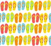 Fond sans couture de plage avec Flip Flops Vector Photographie stock libre de droits