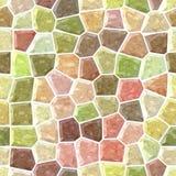 Fond sans couture de plancher de mosaïque extérieure de marbre avec le coulis blanc - spectre polychrome en pastel naturel - rose illustration stock