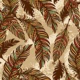 Fond sans couture de plume Image stock