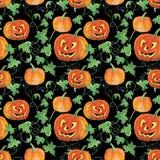 Fond sans couture de potirons de Halloween Photo libre de droits