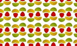 Fond sans couture de répéter les bonbons polychromes à gelée Image stock