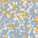 Fond sans couture de Riangle avec des formes de triangle de différentes couleurs Photos libres de droits