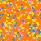 Fond sans couture de Riangle avec des formes de triangle de différentes couleurs Images libres de droits
