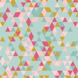 Fond sans couture de Riangle avec des formes de triangle de différentes couleurs Photos stock