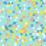 Fond sans couture de Riangle avec des formes de triangle de différentes couleurs Images stock