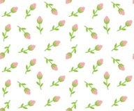 Fond sans couture de roses minuscules Image libre de droits