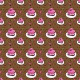 Fond sans couture de tarte aux cerises illustration libre de droits