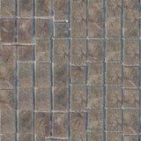 fond sans couture de texture de blocs de trottoir en bois de bois de construction Photo libre de droits