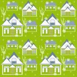 Fond sans couture de texture de modèle d'hiver de Noël Images libres de droits