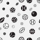 Fond sans couture de texture de modèle de boule courante de sport Photographie stock libre de droits