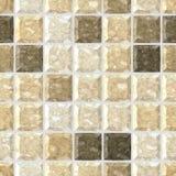 Fond sans couture de texture de modèle de mosaïque pierreuse carrée de marbre beige naturelle avec le coulis gris illustration libre de droits