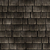 Fond sans couture de toit en bois Images stock
