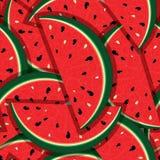 Tranches fraîches de pastèque rouge Image libre de droits