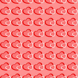 Fond sans couture de Valentine de coeurs roses et rouges Photographie stock