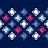 Fond sans couture de vecteur avec les flocons de neige décoratifs Modèle d'hiver Photographie stock libre de droits