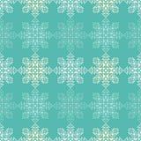Fond sans couture de vecteur avec les flocons de neige décoratifs Modèle d'hiver Photo libre de droits